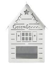 Домик-подсвечник для свечей таблеток Домик Деда Мороза (белый) Bonprix
