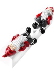 Декоративная фигурка Дед Мороз (2 шт.) (красный/черный) Bonprix