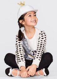 Детская кепка с блестящей короной (белый/золотистый) Bonprix