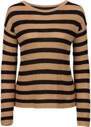 Пуловер с шифоновой вставкой (серый меланж/антрацитовый в по) Bonprix