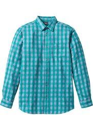 Клетчатая рубашка Regular Fit с длинным рукавом (темно-красный) Bonprix