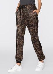 Брюки в леопардовом дизайне (черный леопардовый/коричневый) Bonprix