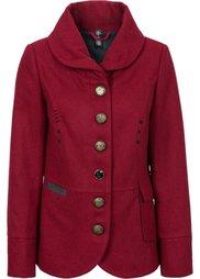 Короткое пальто с отложным воротом (черный) Bonprix
