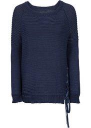 Пуловер с рукавами-реглан (черный) Bonprix