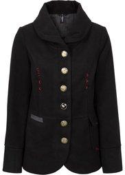 Короткое пальто с отложным воротом (красный) Bonprix