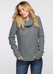 Пуловер (серый) Bonprix