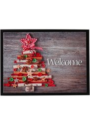 Дверной коврик Новогодняя елка (серый) Bonprix