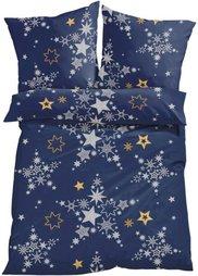 Постельное белье Звезды, нежная фланель (синий) Bonprix
