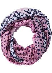 Шарф-снуд с разными узорами (черный/серый/ярко-розовый) Bonprix