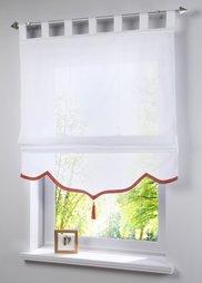 Римская штора Йорис, петли (белый/зеленый) Bonprix