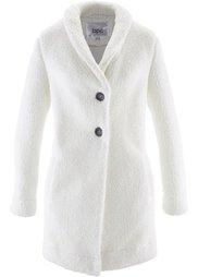 Длинная куртка в плюшевом дизайне (шиферно-серый) Bonprix