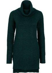 Удлиненный пуловер (светло-серый меланж) Bonprix