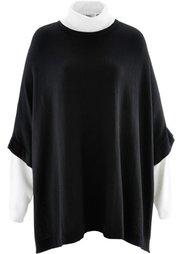 Пуловер в стиле пончо (цвет белой шерсти) Bonprix