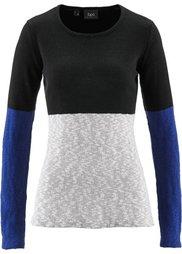 Пуловер (красный/черный/нежная фуксия с) Bonprix