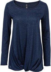 Вязаная футболка (бордовый меланж) Bonprix