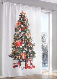 Штора Новогодняя елка (1 шт.), кулиска (белый/различные расцветки) Bonprix