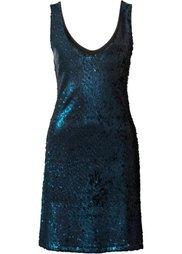 Платье с пайетками (дымчато-розовый) Bonprix