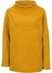 Пуловер с воротником-стойкой (красный меланж) Bonprix