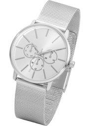 Металлические наручные часы с сетчатым браслетом (золотистый) Bonprix
