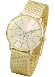 Металлические наручные часы с сетчатым браслетом (серебристый) Bonprix
