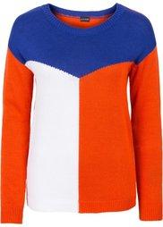 Пуловер (белый/черный/красный) Bonprix