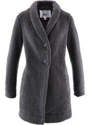 Длинная куртка в плюшевом дизайне (кремовый) Bonprix