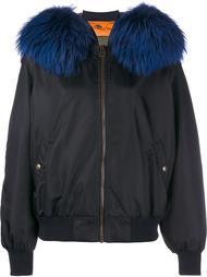 куртка-бомбер с меховым воротником Mr & Mrs Italy