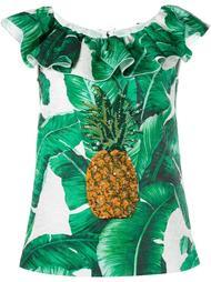 топ с ананасом из пайеток Dolce & Gabbana