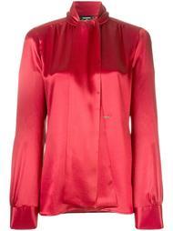 блузка с длинными рукавами и драпировкой Dsquared2