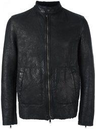 zip-up leather jacket Salvatore Santoro