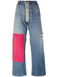 джинсы бойфренды с контрастной вставкой Off-White