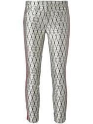 укороченные брюки с отделкой металлик Haider Ackermann