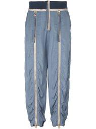 спортивные брюки с молниями Chloé