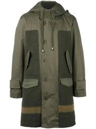 панельное пальто с капюшоном Cy Choi