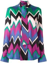 блузка с узором-елочкой Salvatore Ferragamo