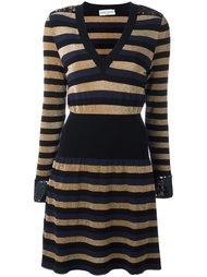 полосатое платье с V-образным вырезом Sonia Rykiel