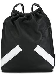 рюкзак с полосатым принтом Neil Barrett