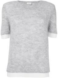 трикотажный свитер с кроткими рукавами Moncler
