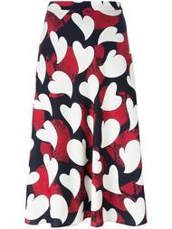 юбка с принтом сердец Boutique Moschino