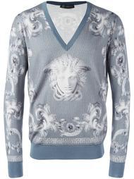 джемпер с V-образным вырезом 'Lenticular Foulard'  Versace