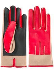 перчатки с панельным дизайном Carven