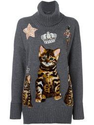 джемпер с принтом бенгальской кошки Dolce & Gabbana