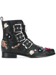 декорированные байкерские ботинки Alexander McQueen