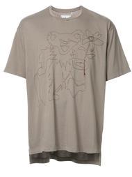 футболка с вышивкой Miharayasuhiro