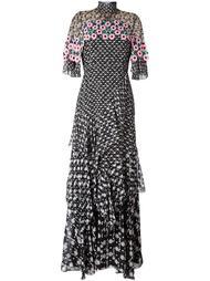 многоярусное платье с вязаной отделкой Peter Pilotto