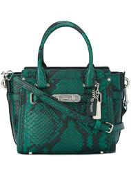 snakeskin tote  Coach