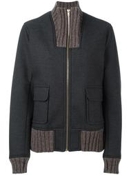 ribbed detailing zipped jacket Kolor