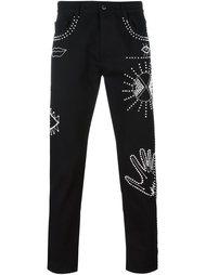 обшитые бусинами джинсы Valentino
