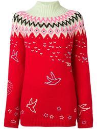 свитер с узором  Nina Ricci