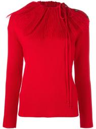 свитер со съеным воротником  Nina Ricci